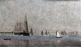 Ships and Sailboats on the Delaware, 1874 von Thomas Eakins | Gemälde-Reproduktion