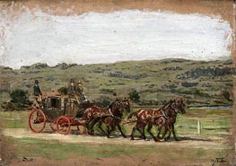 The Fairman Rogers Four-in-Hand, 1879 by Thomas Eakins | Painting Reproduction