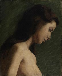 Study of a Young Woman, c.1868 von Thomas Eakins | Gemälde-Reproduktion