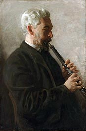 The Oboe Player (Portrait of Dr. Benjamin Sharp) | Thomas Eakins | Painting Reproduction
