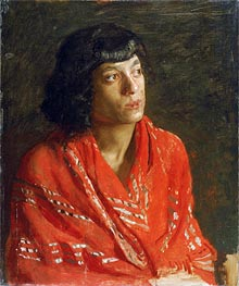 The Red Shawl | Thomas Eakins | Painting Reproduction
