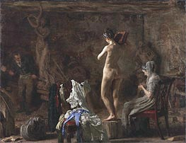 William Rush Carving His Allegorical Figure of the Schuylkill River | Thomas Eakins | Painting Reproduction