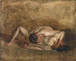 Wrestlers, 1899 by Thomas Eakins | Painting Reproduction