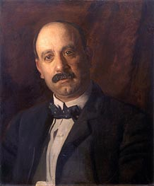 Portrait of A. Bryan Wall, 1904 by Thomas Eakins | Painting Reproduction