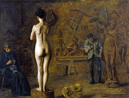 William Rush Carving His Allegorical Figure of the Schuylkill River, 1908 von Thomas Eakins | Gemälde-Reproduktion