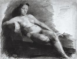 Reclining Female Nude, c.1863/66 by Thomas Eakins | Painting Reproduction