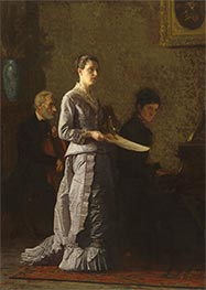Singing a Pathetic Song, 1881 by Thomas Eakins | Painting Reproduction