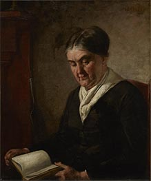 Portrait of a Woman Reading, Undated by Thomas Eakins | Painting Reproduction