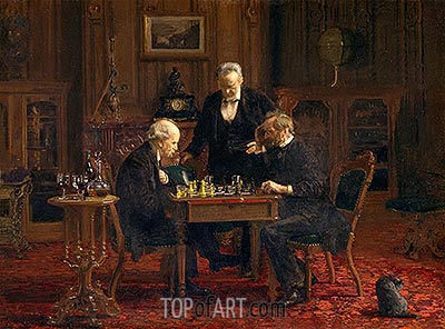 The Chess Players, 1876 | Thomas Eakins | Painting Reproduction