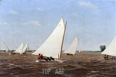 Sailboats Racing on the Delaware, 1874 | Thomas Eakins | Painting Reproduction