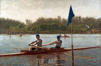The Biglin Brothers Turning the Stake Boat, 1873 | Thomas Eakins | Painting Reproduction