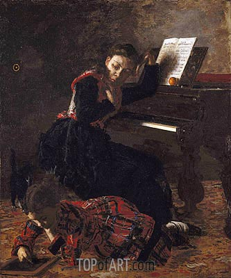 Home Scene, c.1871 | Thomas Eakins | Painting Reproduction