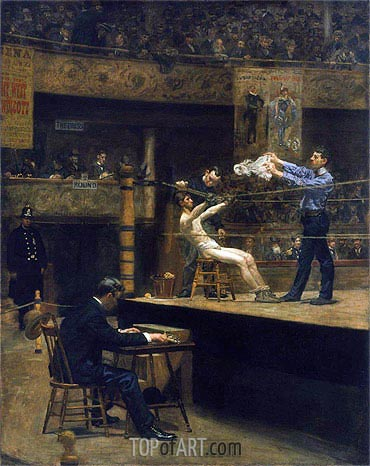 Between Rounds, c.1898/99 | Thomas Eakins | Painting Reproduction