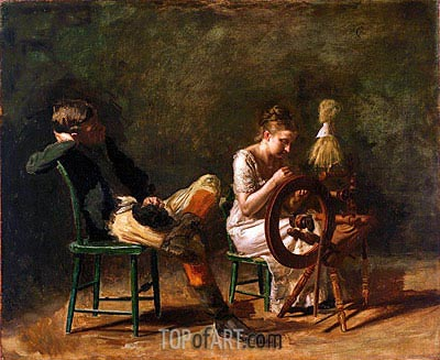 The Courtship, c.1878 | Thomas Eakins | Gemälde Reproduktion