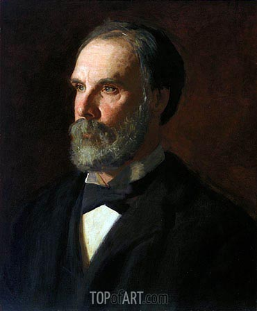 Professor William Woolsey Johnson, c.1896 | Thomas Eakins | Gemälde Reproduktion