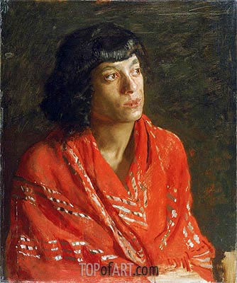 The Red Shawl, c.1890 | Thomas Eakins | Painting Reproduction