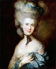 A Woman in Blue (Portrait of the Duchess of Beaufort), c.1775/80 by Gainsborough | Painting Reproduction