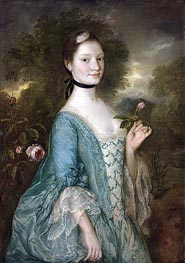 Sarah, Lady Innes, c.1757 by Gainsborough | Painting Reproduction