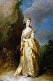 Mrs. Peter William Baker | Gainsborough | Gemälde Reproduktion
