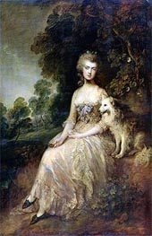 Mrs. Mary Robinson (Perdita) | Gainsborough | Gemälde Reproduktion