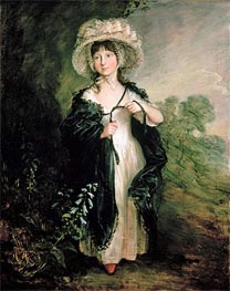 Miss Elizabeth Haverfield, c.1782 by Gainsborough | Painting Reproduction