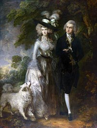 Mr and Mrs William Hallett (The Morning Walk), 1785 by Gainsborough | Painting Reproduction
