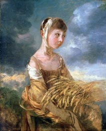 Miss Gainsborough Gleaning, undated by Gainsborough | Painting Reproduction
