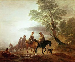 Peasants Going to Market Early Morning, 1770 by Gainsborough | Painting Reproduction