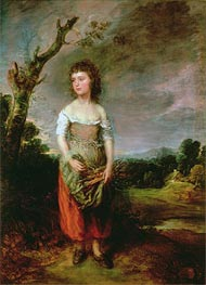 Peasant Girl Gathering Faggots | Gainsborough | Painting Reproduction