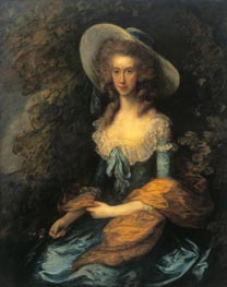 Portrait of Miss Evans | Gainsborough | Gemälde Reproduktion