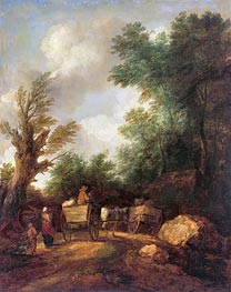 Landscape With Country Carts, c.1784/85 by Gainsborough | Painting Reproduction