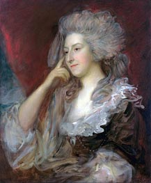 Mrs Fitzherbert, 1784 by Gainsborough | Painting Reproduction