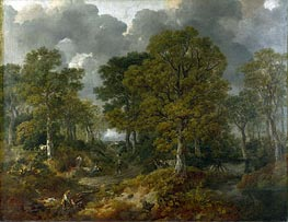 Cornard Wood, near Sudbury, Suffolk (Gainsborough's Forest), 1748 by Gainsborough | Painting Reproduction
