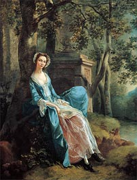 Portrait of a Woman, Possibly of the Lloyd Family, c.1750 by Gainsborough | Painting Reproduction