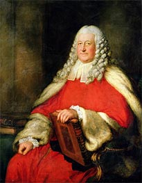 Portrait of Sir Edward Willes in Judge's Robes, Undated by Gainsborough | Painting Reproduction