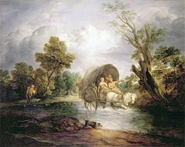 A Country Cart Crossing a Ford, c.1786 by Gainsborough | Painting Reproduction