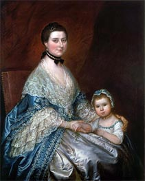 Mrs. Bedingfield and her Daughter, c.1760/70 by Gainsborough | Painting Reproduction