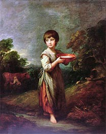 Lavinia, the Milk Maid, Undated by Gainsborough | Painting Reproduction