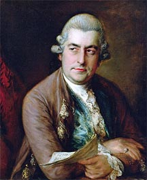 Portrait of Johann Christian Bach, Undated by Gainsborough | Painting Reproduction