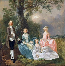 Mr and Mrs John Gravenor and their Daughters, Elizabeth and Ann, Undated by Gainsborough | Painting Reproduction