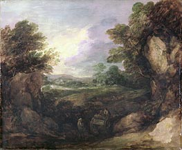 Landscape with Figures, c.1786 by Gainsborough | Painting Reproduction