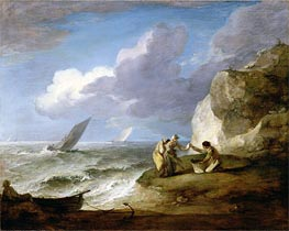 Coastal Scene, Undated by Gainsborough | Painting Reproduction