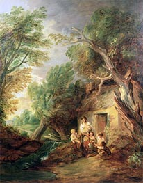 The Cottage Door, c.1780/88 by Gainsborough | Painting Reproduction