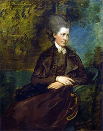 Portrait of Georgiana Poyntz, Countess Spencer | Gainsborough | Painting Reproduction