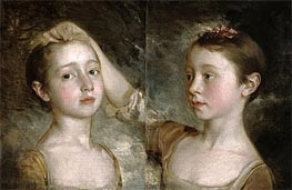 The Painter's Daughters Mary and Margaret | Gainsborough | Gemälde Reproduktion