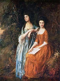 The Linley Sisters (Mrs. Sheridan and Mrs. Tickell), Undated by Gainsborough | Painting Reproduction