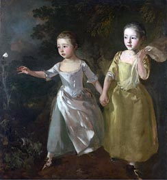 The Painter's Daughters Chasing a Butterfly, c.1756 von Gainsborough | Gemälde-Reproduktion