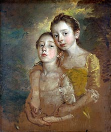 The Painter's Daughters with a Cat, c.1760/61 von Gainsborough | Gemälde-Reproduktion
