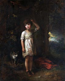 A Boy with a Cat (Morning), 1787 by Gainsborough | Painting Reproduction