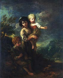 The Wood Gatherers, 1787 von Gainsborough | Gemälde-Reproduktion